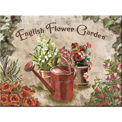 Nostalgic Art English Flower Garden Red Can Magnet 6X8cm Renkli